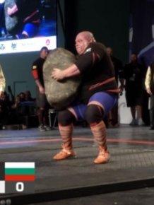 Strongman Dimitar Savatinov Lifts World's Largest Potato