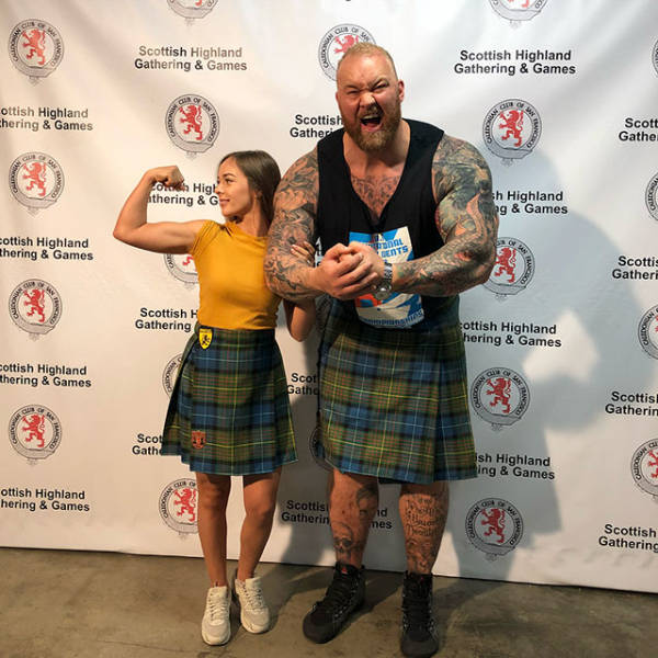 """The Mountain"" And His Little Wife"
