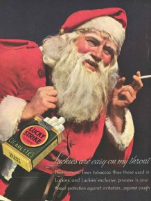 Vintage Tobacco Christmas Ads