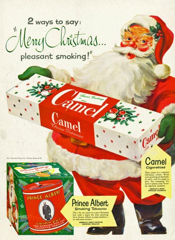 Vintage Tobacco Christmas Ads