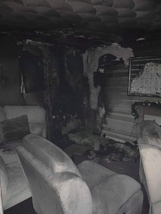 Christmas Tree Fire Destroys House As Young Family Sleeps