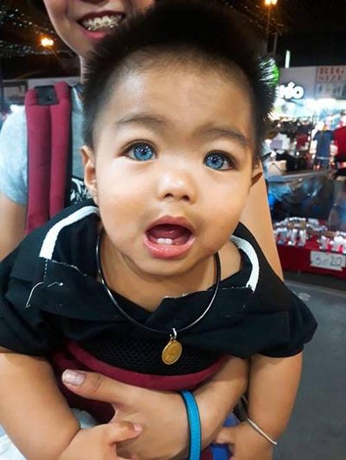 Adorable, Blue-eyed Thai Baby