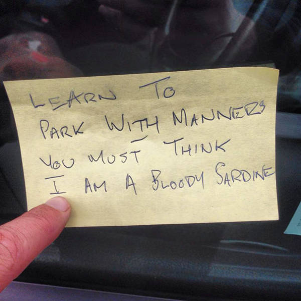 Passive Aggression Parking Notes