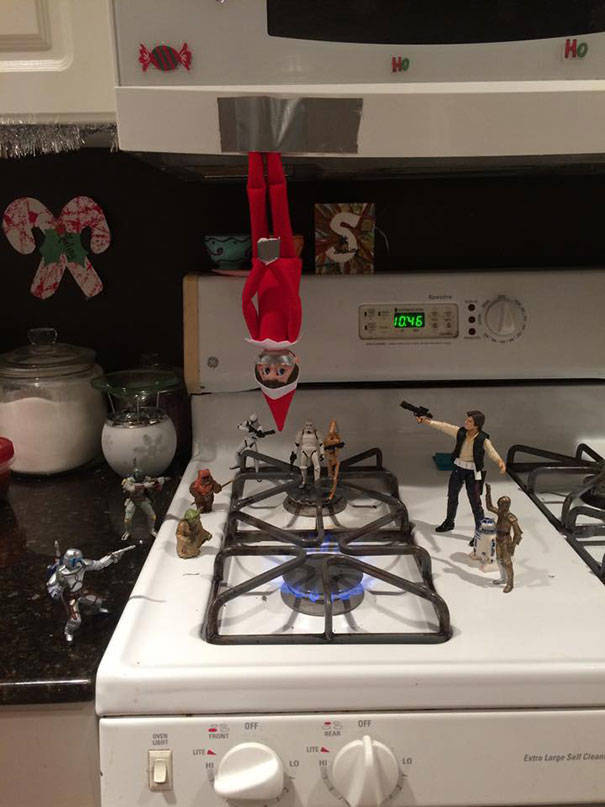 "Some Perfect ""Elf On The Shelf"" Placement Ideas"