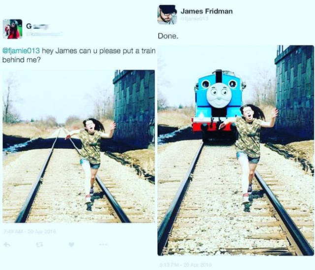 Never Ask James Fridman To Photoshop Your Pictures!