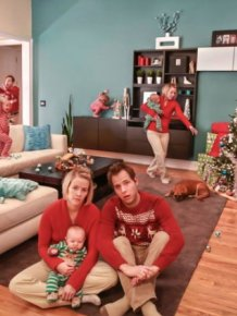 Christmas Cards Of A Family