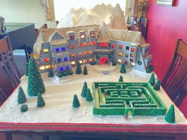 A 'Shining' Themed Gingerbread House