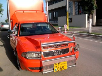 Audi A4 With Six Wheels And Fifth Wheel Hitch