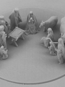 Scientists Create A Nativity Scene Where Jesus Is Smaller Than A Human Cell
