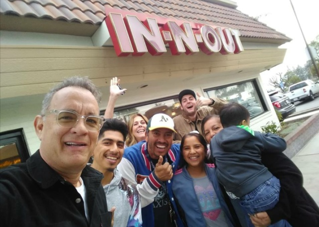Tom Hanks Surprises Fans at In-N-Out Burger and Buys Them Lunch