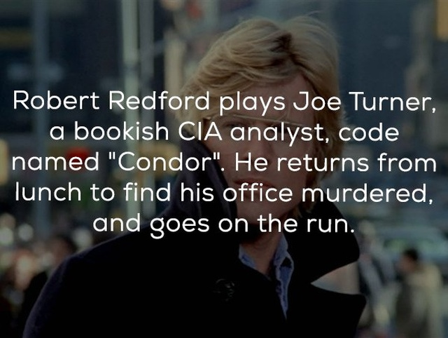"Facts About The Movie ""Three Days of the Condor"""