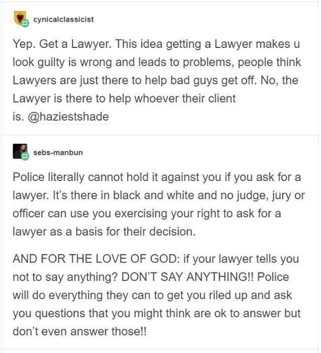What To Do If We Ever Get Arrested