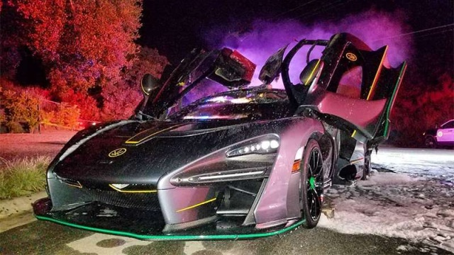 McLaren Senna Suddenly Catches Fire in LA