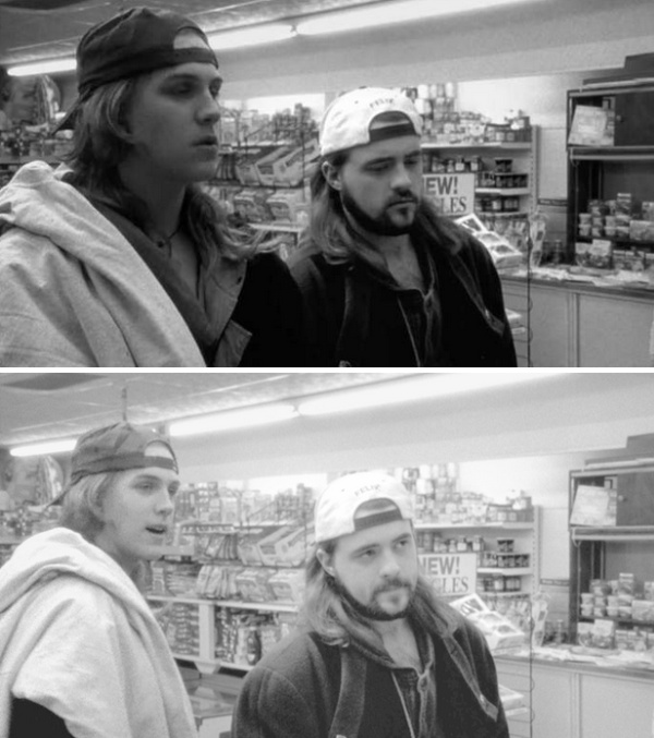 Jason Mewes And Kevin Smith In 1994 and 2019, part 2019