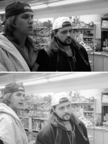 Jason Mewes And Kevin Smith In 1994 and 2019