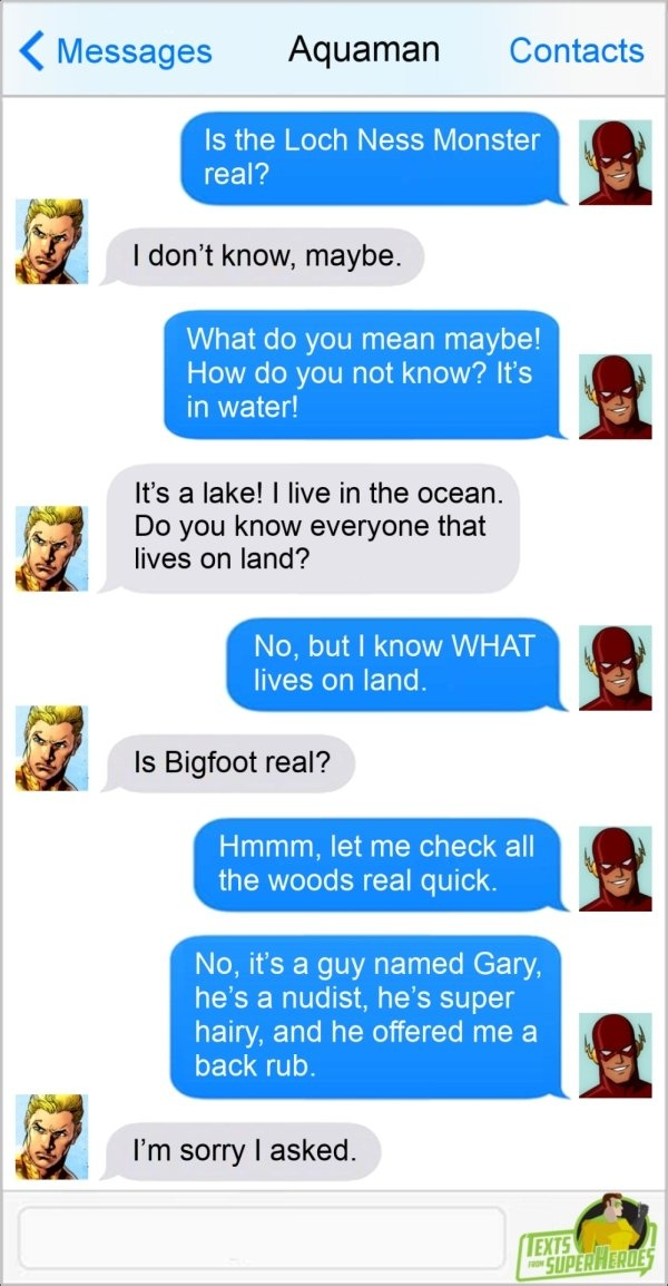 Texts From Superheroes, part 2
