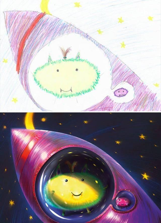 Artists Make Kids' Monster Doodles