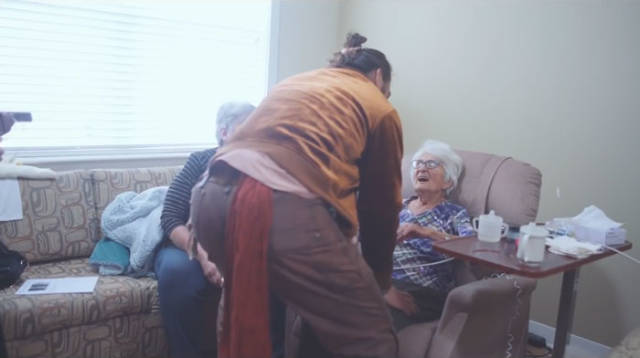 Jason Momoa And His Grandma