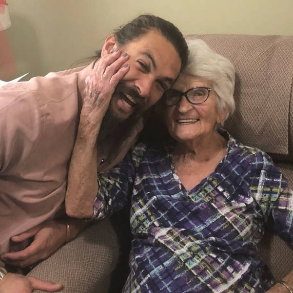 Jason Momoa And His Grandma