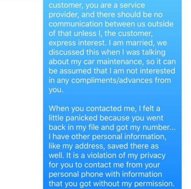 This Oil Change Guy Won't Message A Woman Again