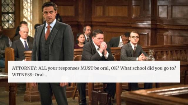 Stupid Things Are Often Said In The Courtroom