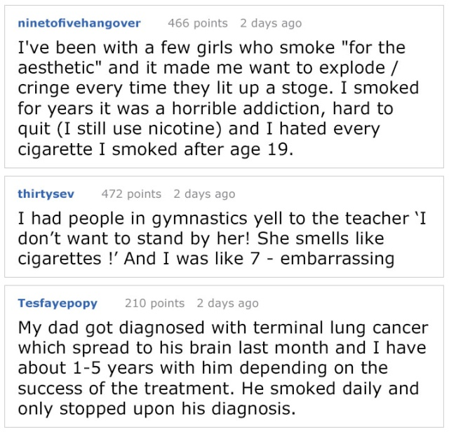 Someone Says That Non-Smokers Are 'Boring,' Gets Shut Down By Person Who Grew Up In Cigarette Smoke