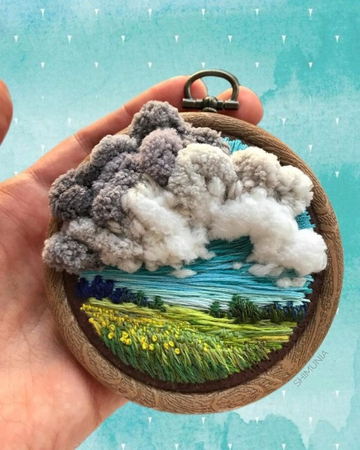 Russian Artist Pushes Embroidery To Its Limits, Making It Look Like Paint