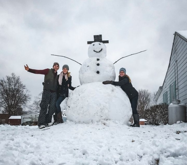 Instant karma For A Driver Who Wanted To Destroy This Snowman