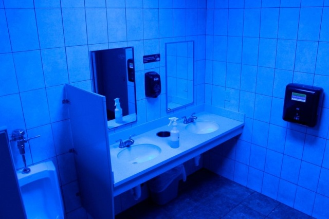 Gas Station Installs Blue Lights To Fight Drug Use