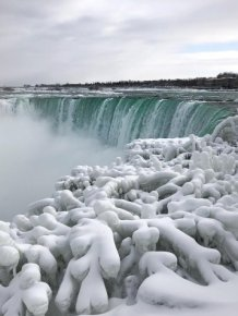 Waters at Niagara Falls Have Frozen