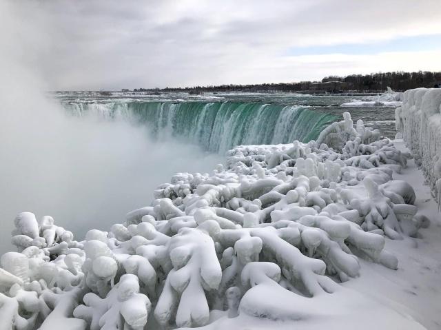Waters at Niagara Falls Have Frozen