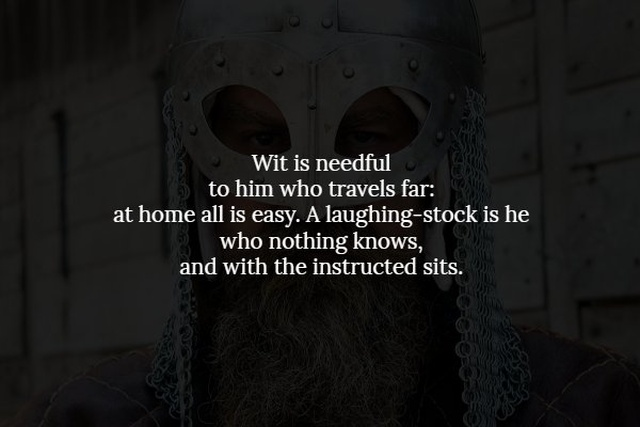 Words Of Wisdom From The Real Viking Age