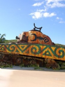 Painted Tanks At Flamenco Beach