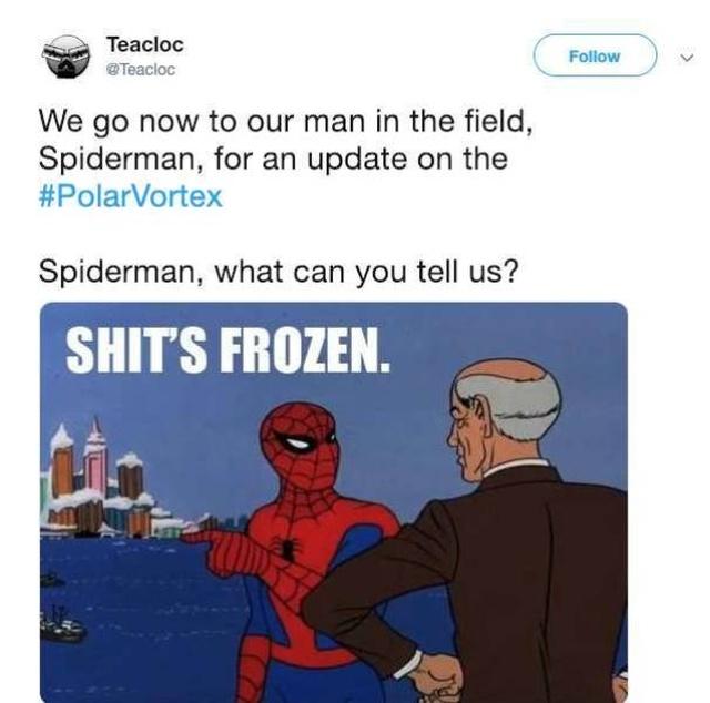 Polar Vortex 2019 Memes