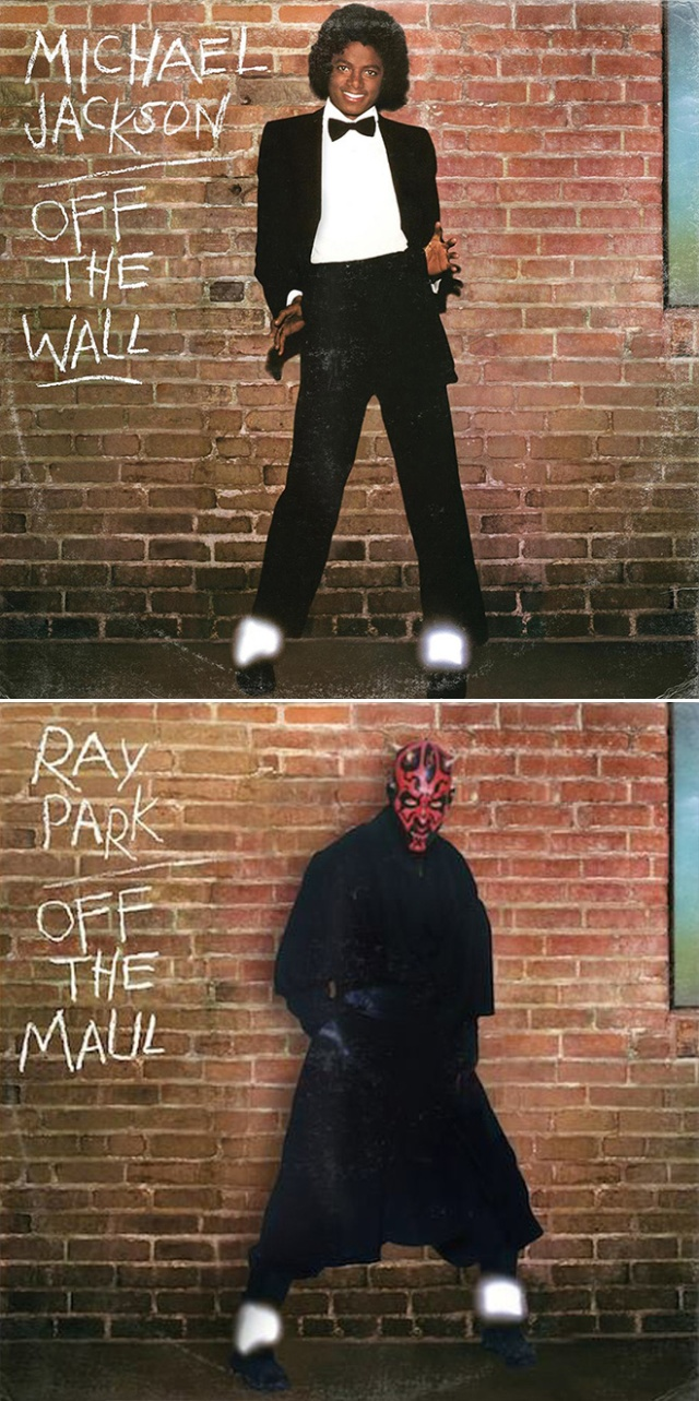 Classic Album Covers Improved by Star Wars Characters