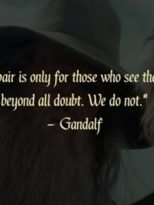 "Quotes From ""The Lord Of The Rings"""