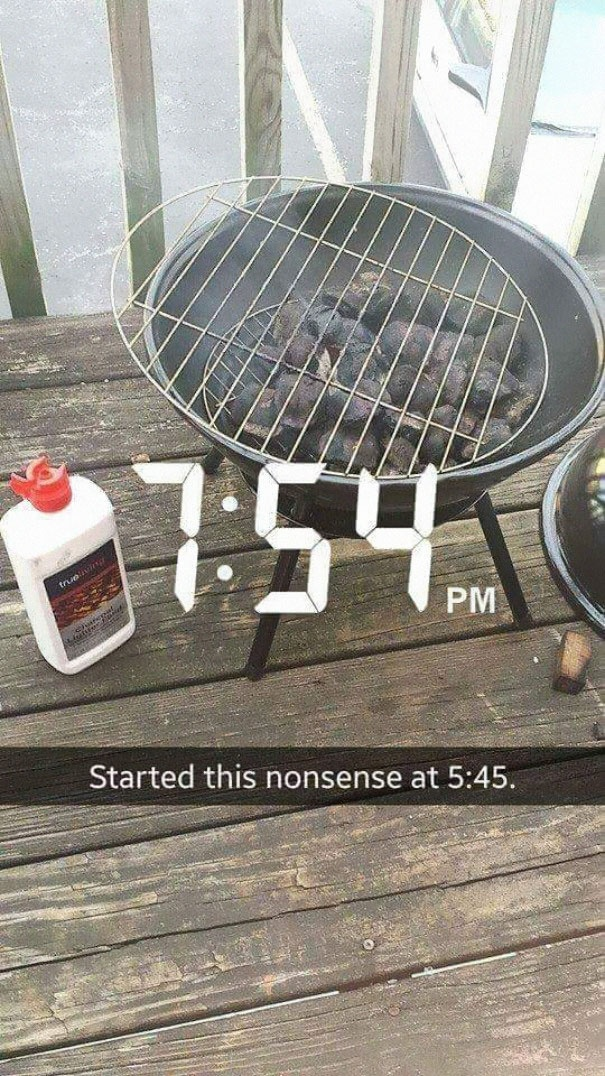 Woman Tries To Grill