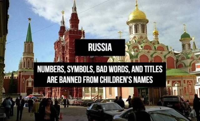 There Are Some Names That Can't Be Used In Various Countries Around The World