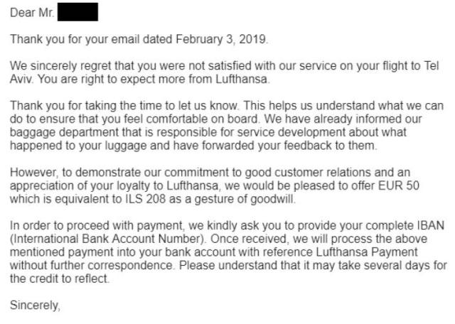 Lufthansa Offers Money After An Anti-Semitic Complaint