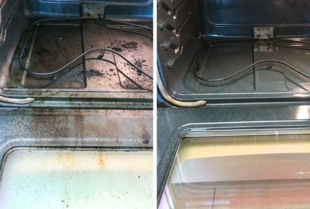 Before And After A Cleaning