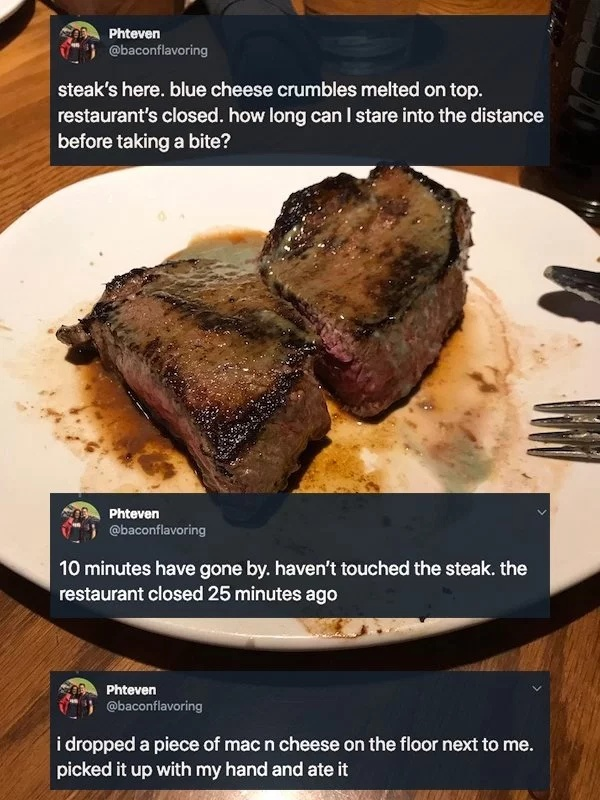 Guy Was Trying To Scam A Free Steak