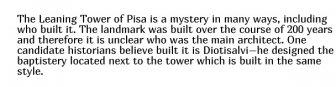 Secret Facts About Famous Landmarks