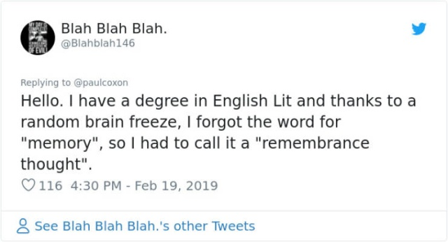 That Awkward Moment When You Forget The Easiest Words