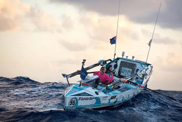 Michelle Lee After Crossing Atlantic Ocean