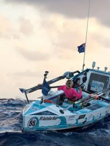 Michelle Lee After Crossing Atlantic Ocean
