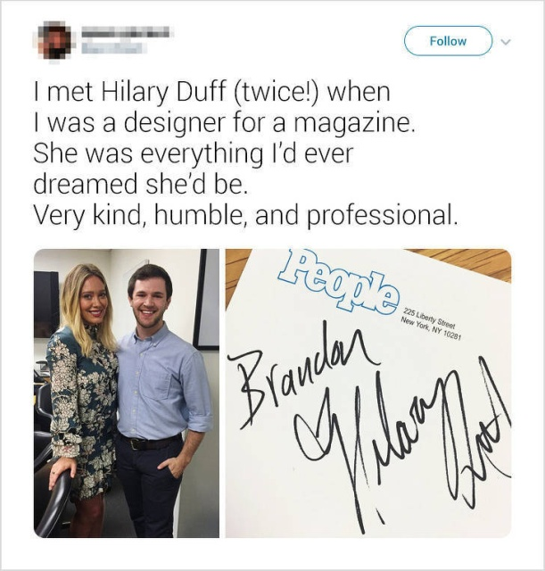 How Casual People Met Celebs And Were Positively Impressed
