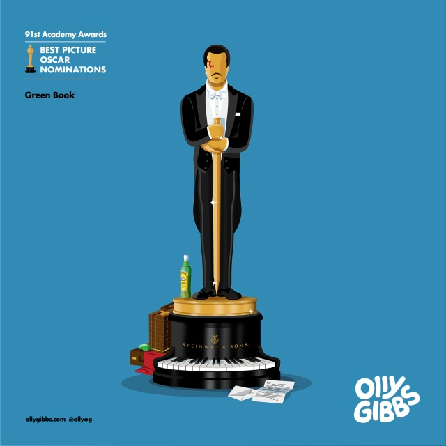 2019 Oscars Best Picture Nominees Illustration
