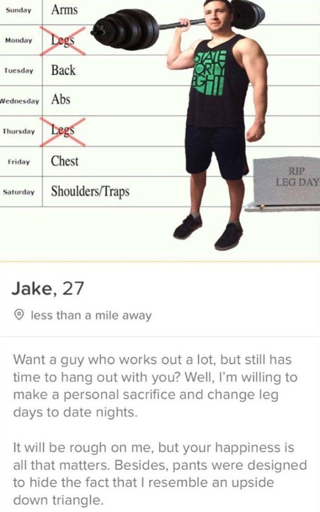 One Guy Makes Funny Tinder Profiles
