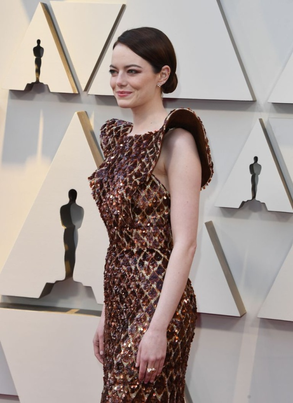 Emma Stone's Dress at 2019 Oscars Looks Like...