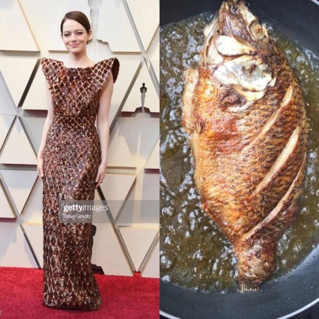 Emma Stone's Dress at 2019 Oscars Looks Like...